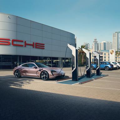 Porsche AP Taycan social campaign