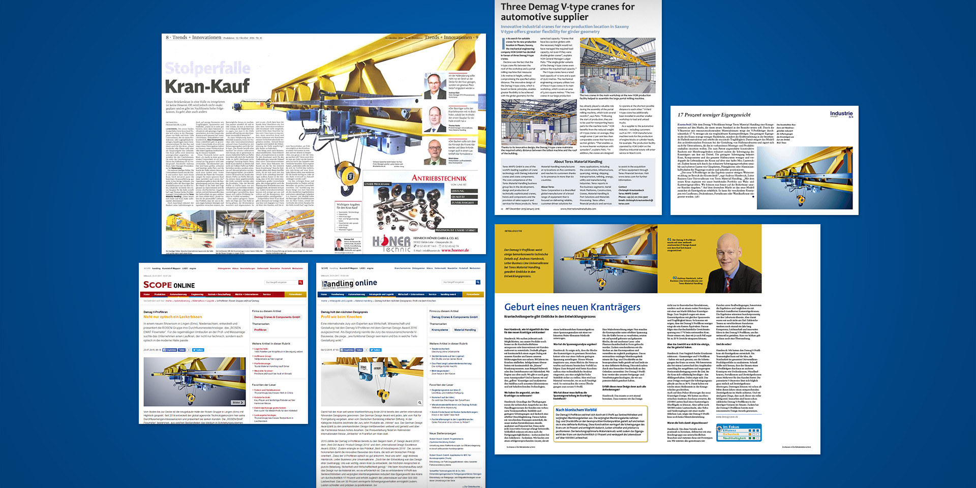 Demag Cranes – V Profile Crane – Media response